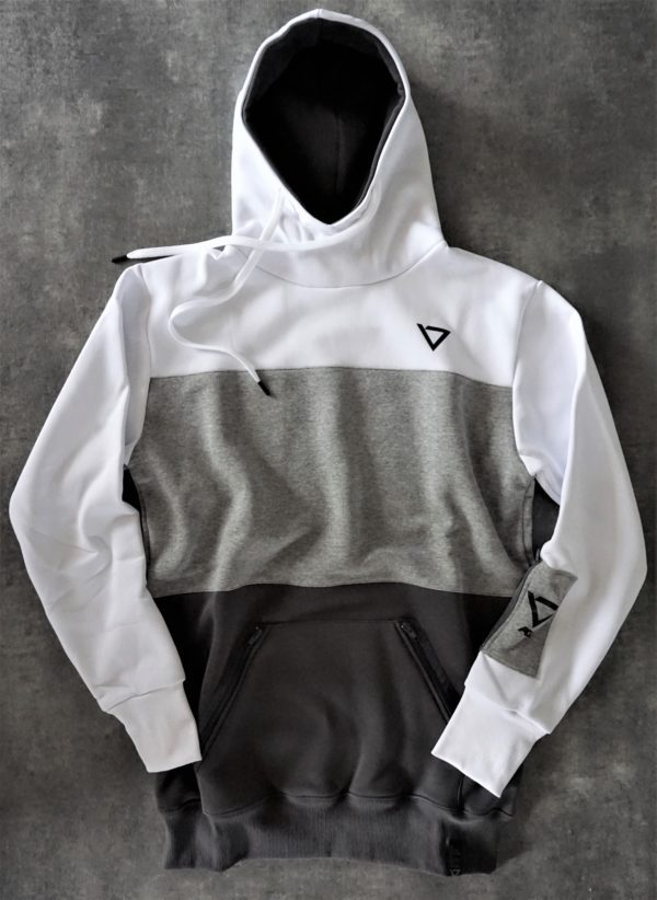 heavy hooded sweatshirt, manufactured with very resistant fabric